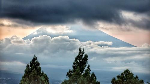 mountfuji sunset cloud trees clouds