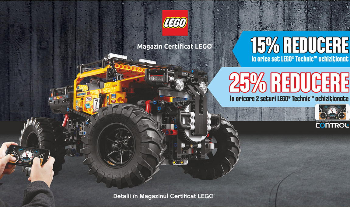 25% reducere la oricare 2 seturi LEGO® Technic