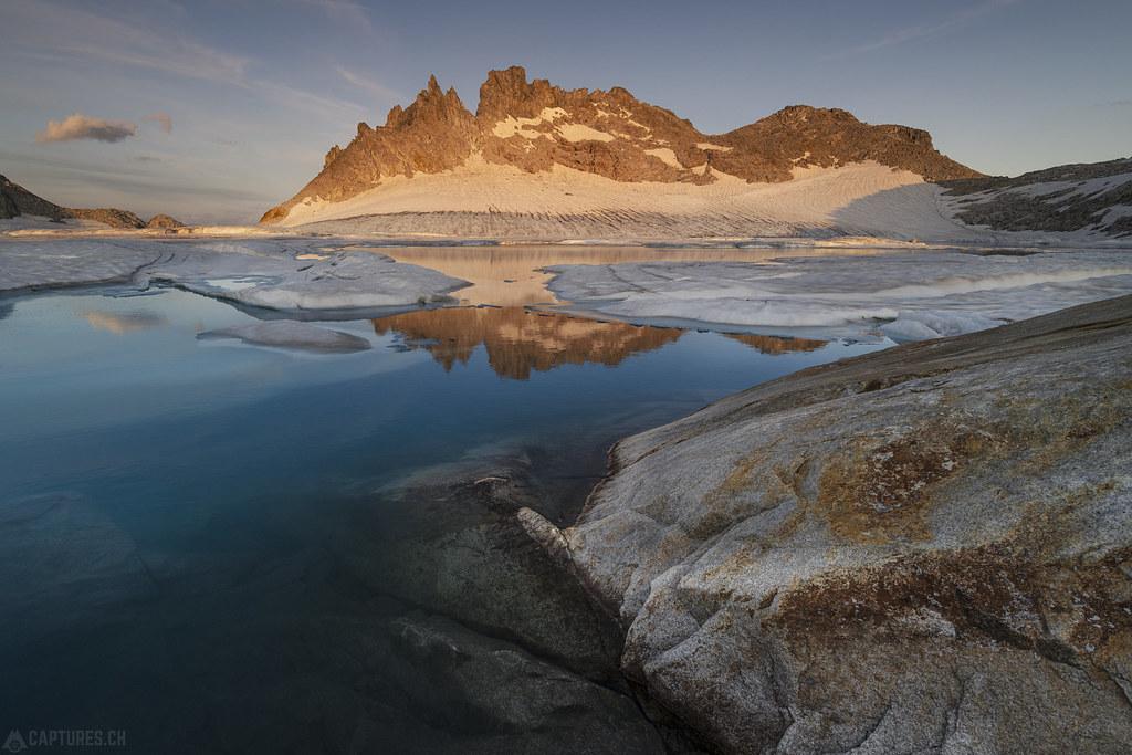 Last light on the cliffs - Gerenpass