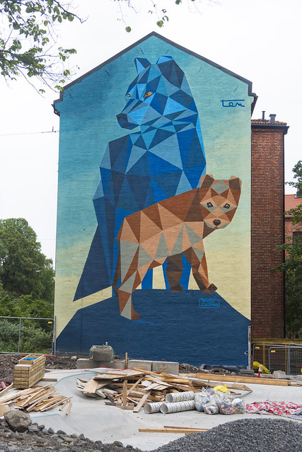 Mural in Oslo, The wolves den, by Riccardo Colombo (TEN)