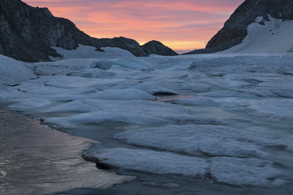 Ice in the dawn - Gerenpass