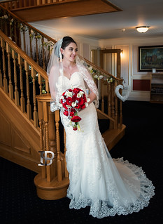 Bride by Staircase
