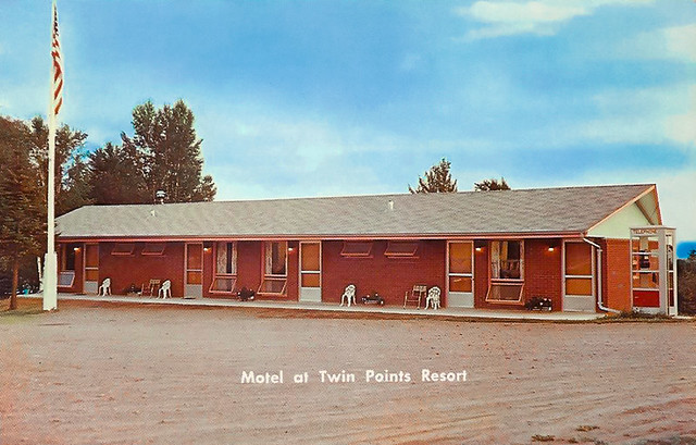 Twin Points Resort Motel Postcard