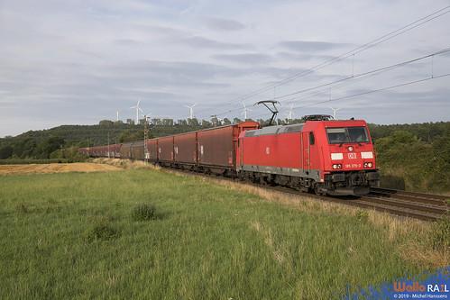 185 375 . DB Cargo . 47564 . Nothberg , Eschweiler . 05.08.19.