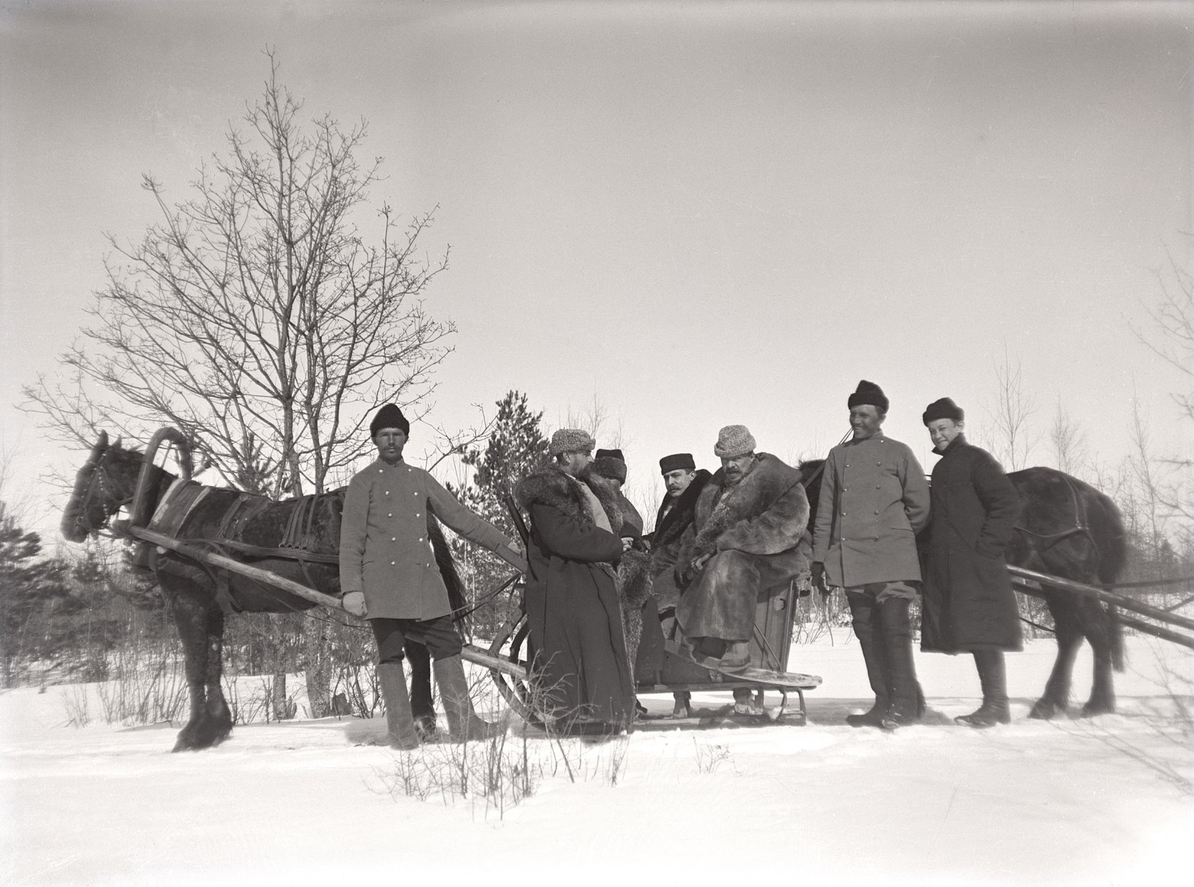 02. 1897. Выезд на зимнюю охоту на лис