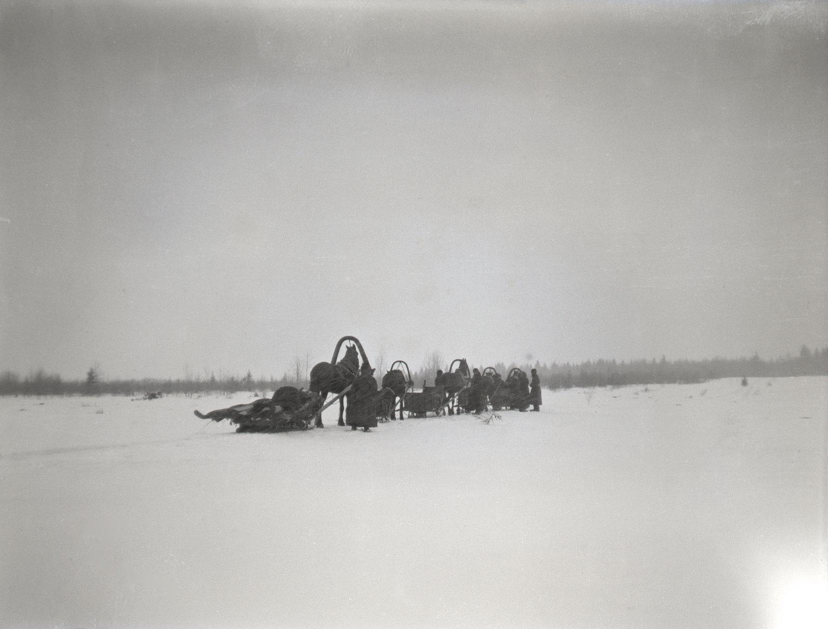 05. 1897. Зимняя охота. Выезд на охоту
