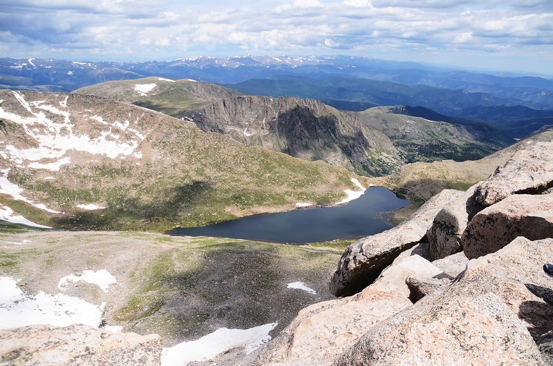 View of Summit Lake from the summit of Evans (1)