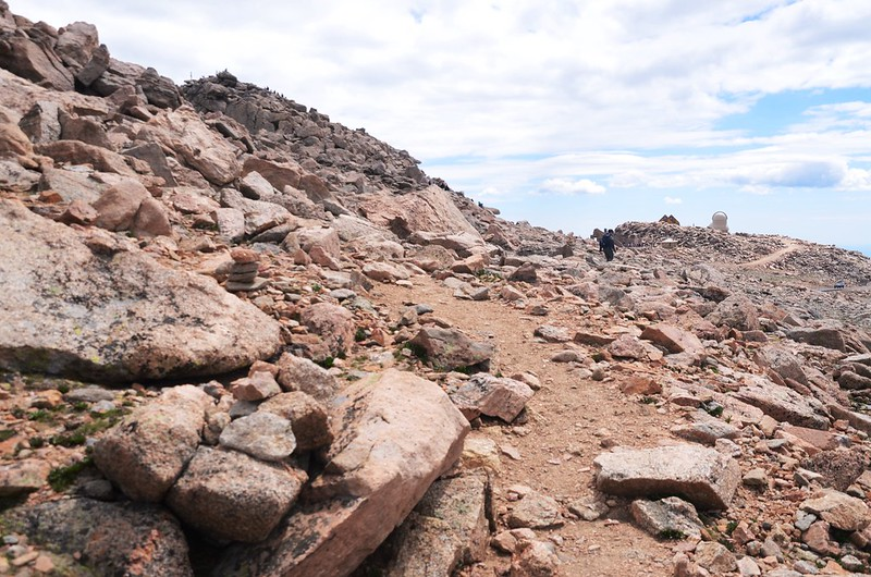 The final part of the trail travels along the south slope of Mount Evans' west ridge  (15)