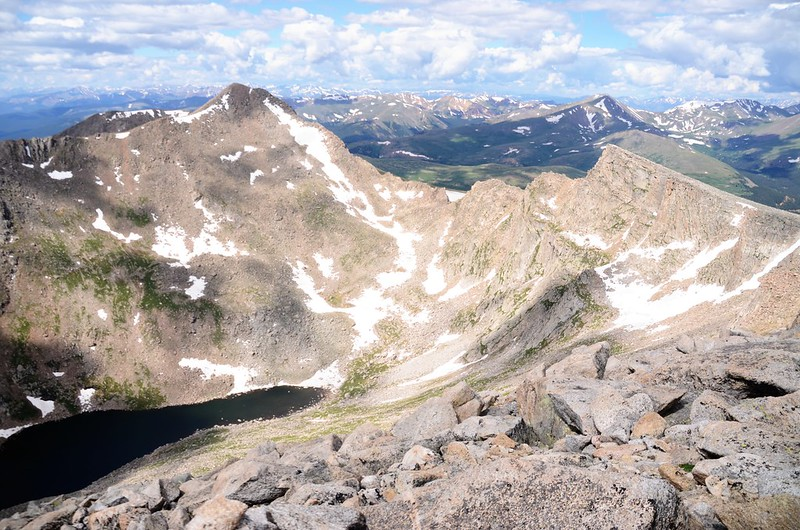 Looking southwest at the Sawtooth Ridge from the west side of Mt Evans (2)
