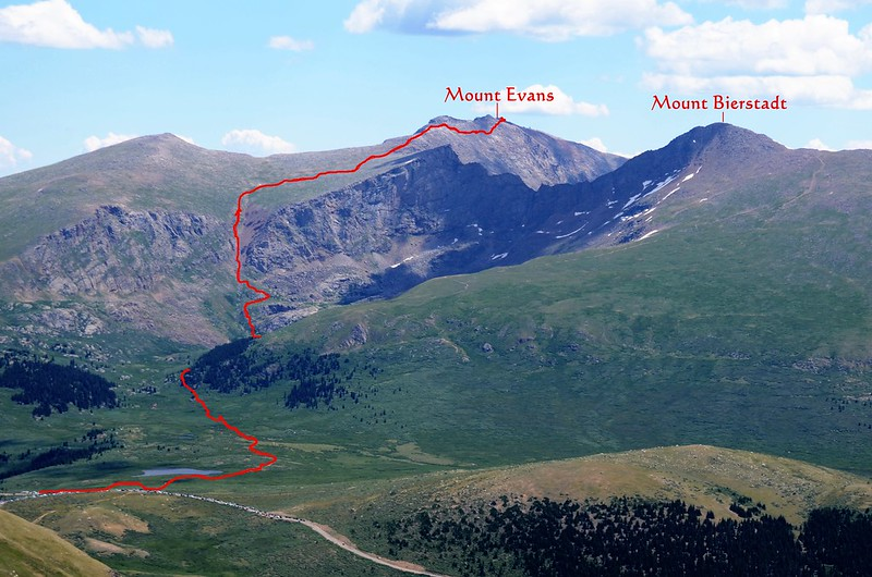 Looking east at Mount Evans & Bierstadt from Square Top Mountain Trail (12)_副本