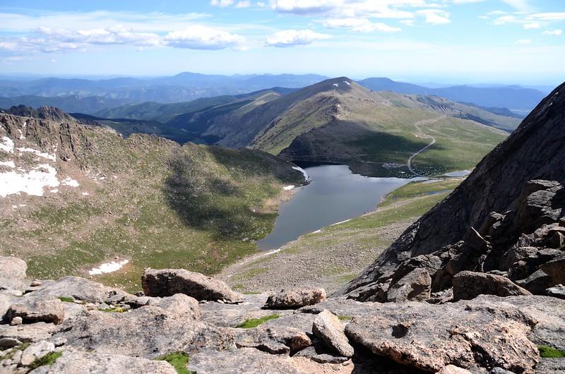 Looking down at Summit Lake from Spalding-Evans ridge (1)
