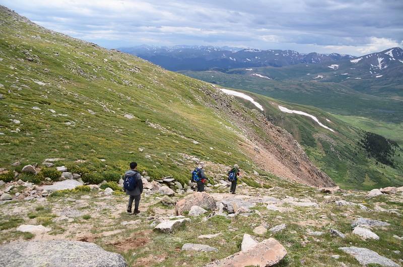 Descending the gully (9)