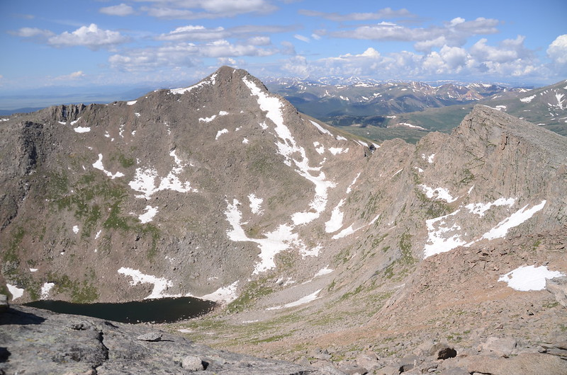 Looking south at the Sawtooth ridge from the ridge between The Sawtooth & Mount Evans, near 13,750 ft   (3)