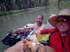Chad, the dogs and me, Verde River, August 5