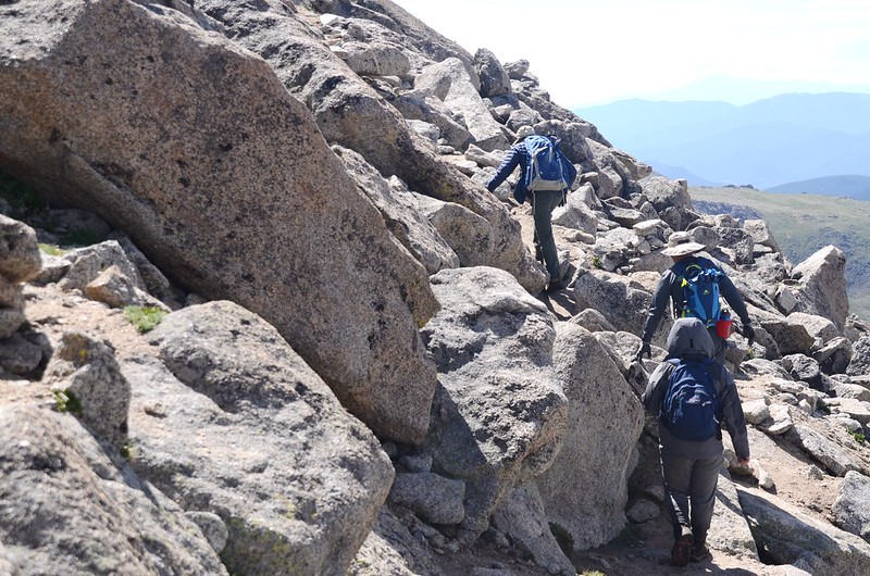 The final part of the trail travels along the south slope of Mount Evans' west ridge (6)
