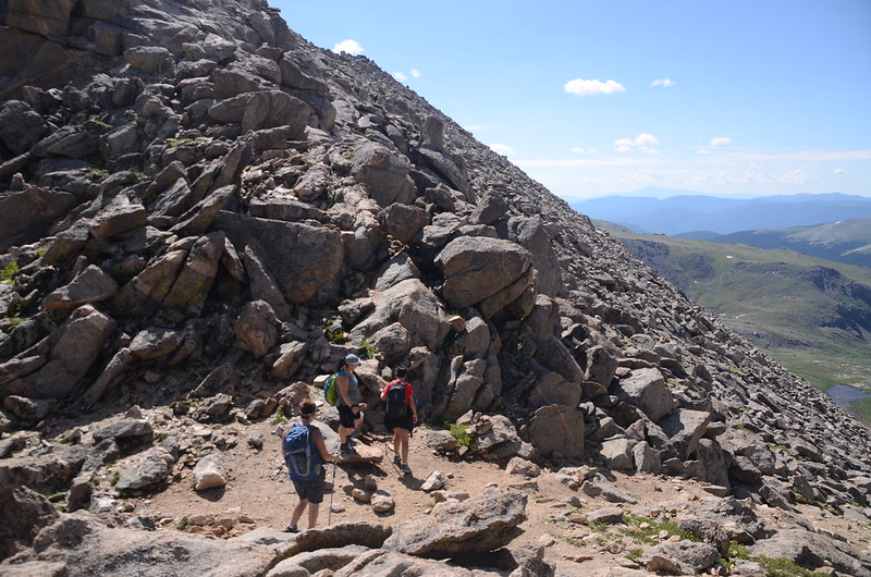 The final part of the trail travels along the south slope of Mount Evans' west ridge (2)
