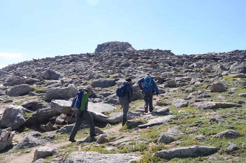 False summit of Evans on the West end of Evans' West ridge (4)