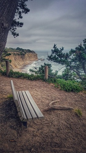 bench benchmonday coast coastline ocean pacificocean pacificcoast california highway1 cliff greyhoundrockstatepark park rock waves