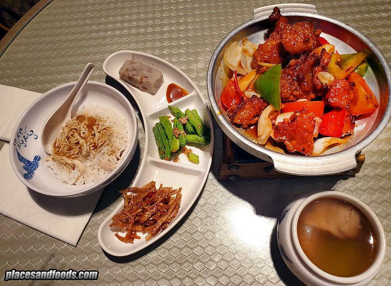 kiki by fong lye KLCC sweet and sour chicken set