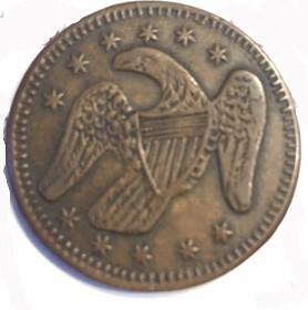 1846 Eagle token reverse