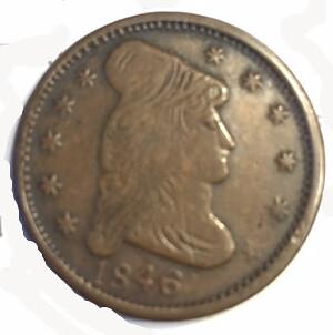 1846 Eagle token obverse