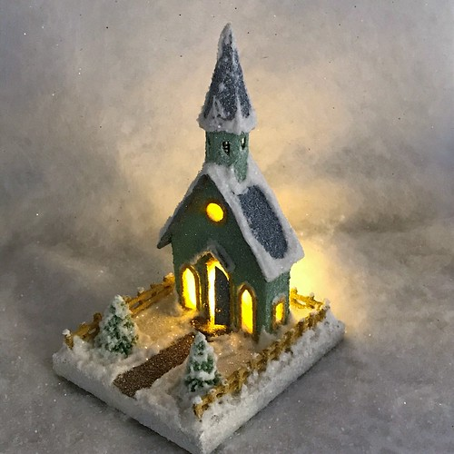 MINI Light Green and Grey Putz Church