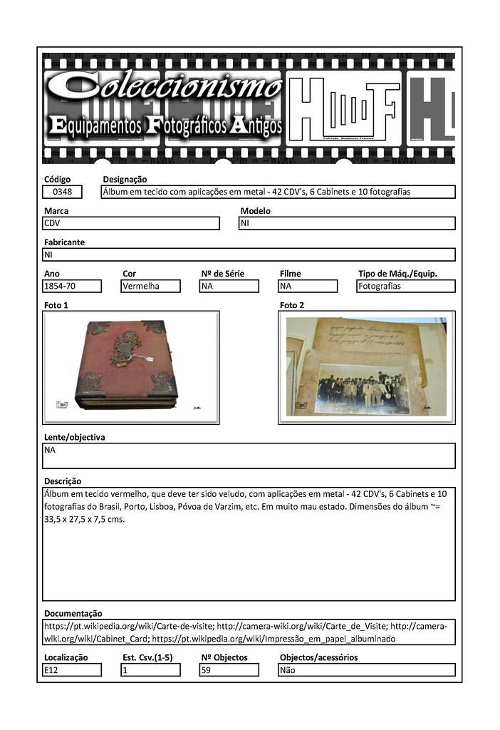 Inventariação da colecção_0348 Álbum em tecido com aplicações em metal - 42 CDV's, 6 Cabinets e 10 fotografias