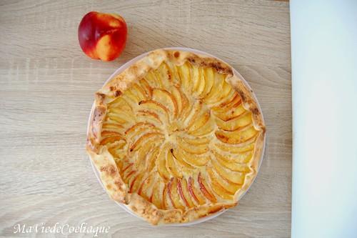 tarte aux nectarines sans gluten 1