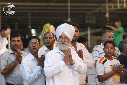 Saints expressing their gratitude in Namaskar-line