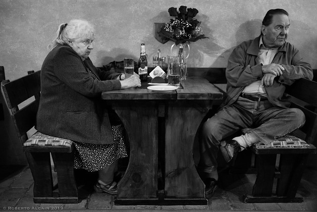 Couple drinking a beer