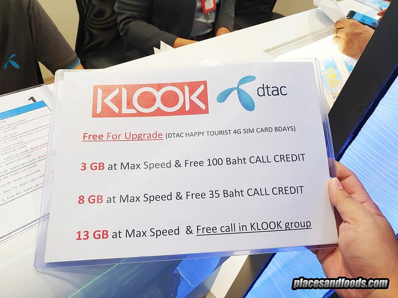 thailand 4g sim card klook