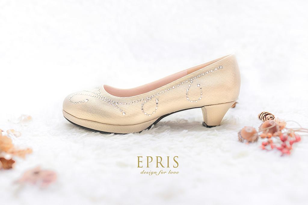 租鞋 婚宴鞋 媽媽鞋 低跟 金色