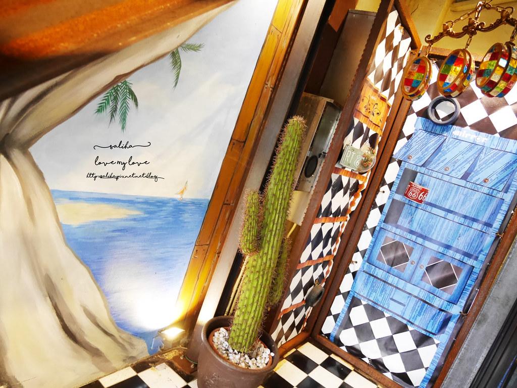 台中草悟道競子咖啡愛麗絲下午茶早午餐彩繪牆好拍ig景點餐廳 (2)