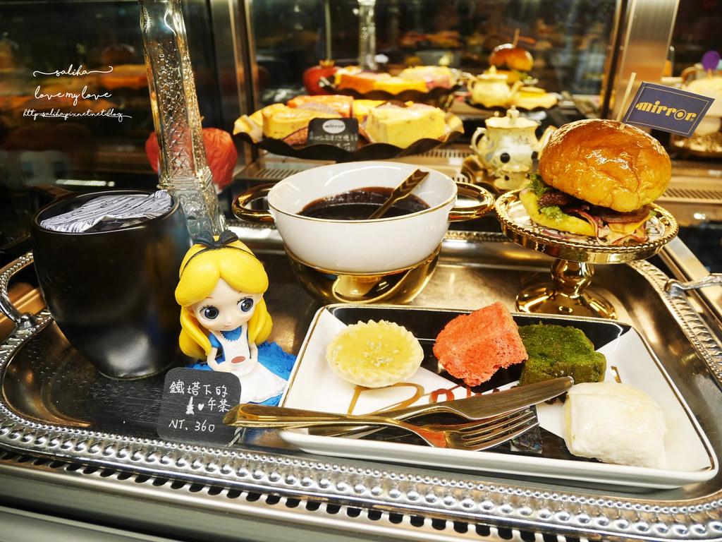 台中草悟道競子咖啡愛麗絲下午茶早午餐彩繪牆好拍ig景點餐廳 (1)