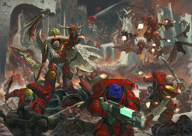 [06.08.19] Blood Angels vs Emperor's Children (3500 pts).  48470495951_332591a842_z