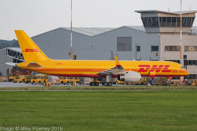 G-DHKR - 1998 buid Boeing B757-223PCF, parked at Cargo West at East Midlands