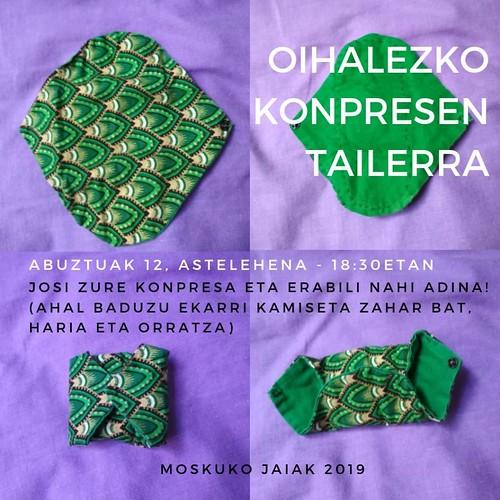 Moskuko Jaiak ihalezko konpresa tailerra