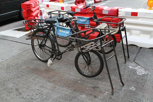 Shell Gas bikes with front and rear racks for gas bottles
