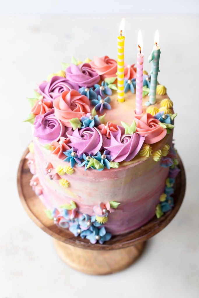 Phenomenal Beautiful Birthday Cake This Beautiful Colourful Birthday Flickr Funny Birthday Cards Online Elaedamsfinfo