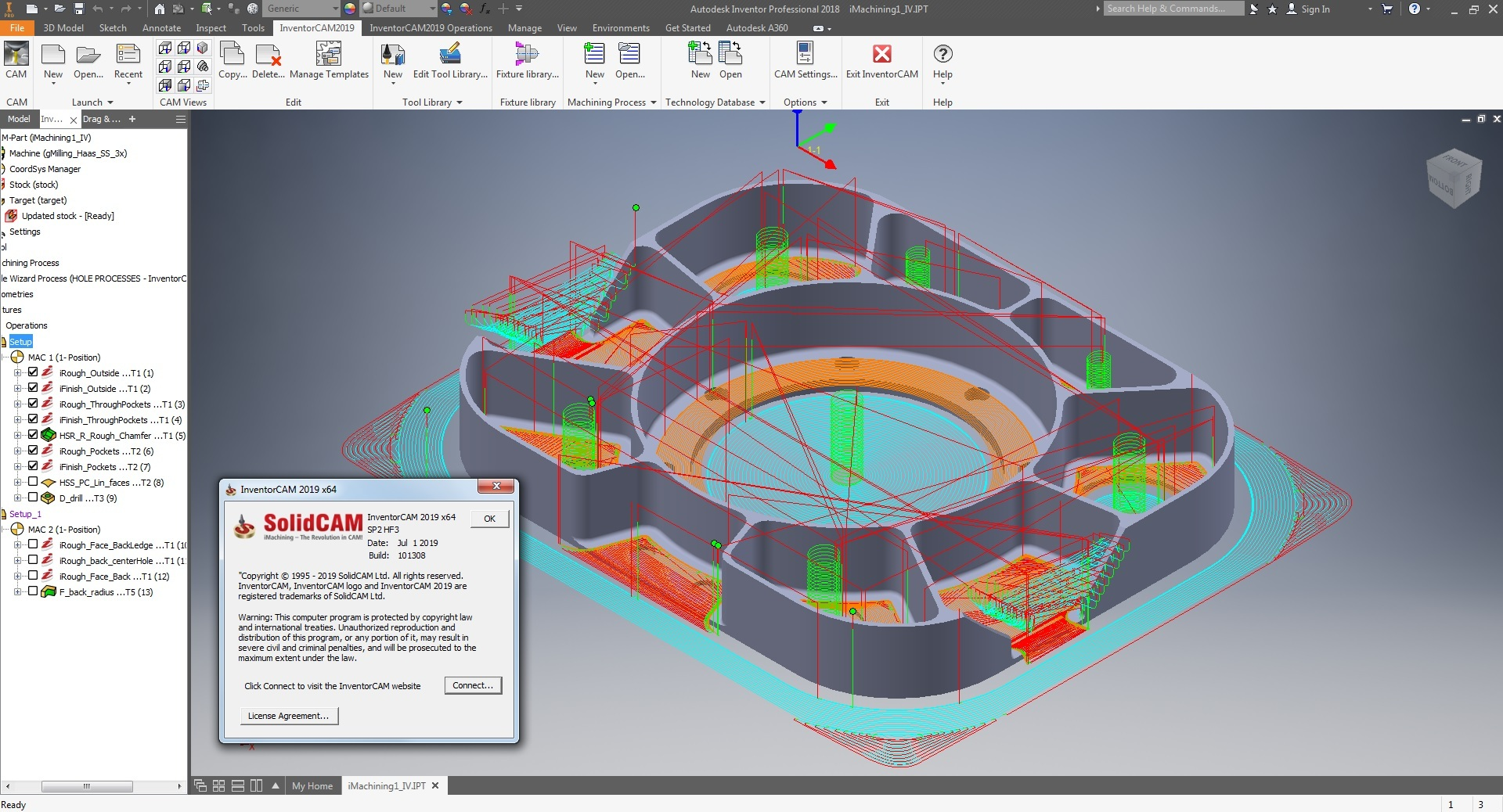 Programming with InventorCAM 2019 SP2 HF3 for Autodesk Inventor x64 full