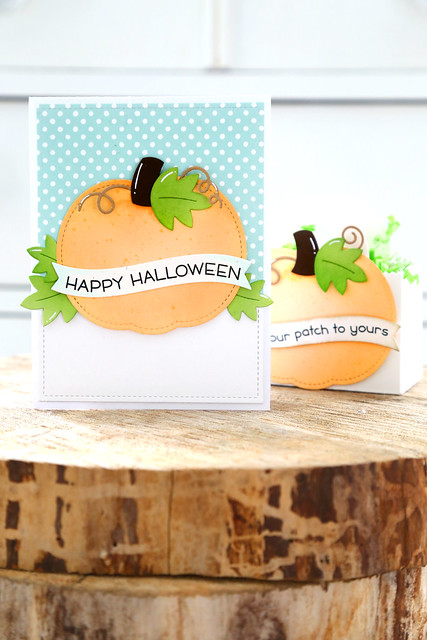 Stitched pumpkins (Lawn Fawn inspiration week)