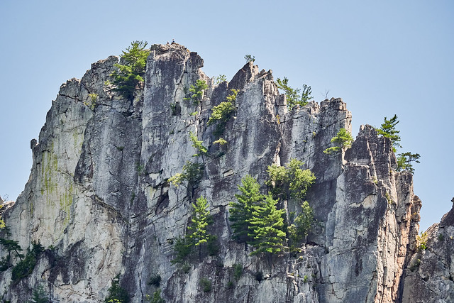 Seneca Rocks and Climbers