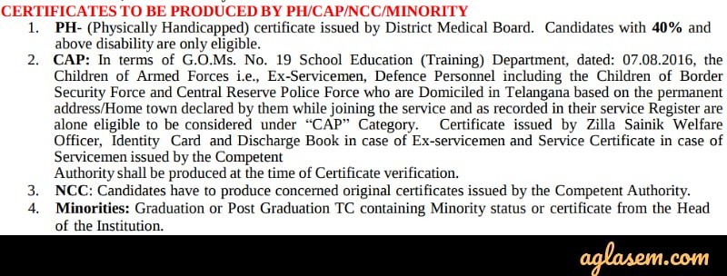 TS EdCET 2020 Counselling documents