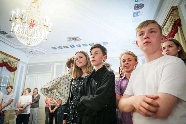Valsts prezidenta Egila Levita tikšanās ar Eiropas vasaras skolas dalībniekiem