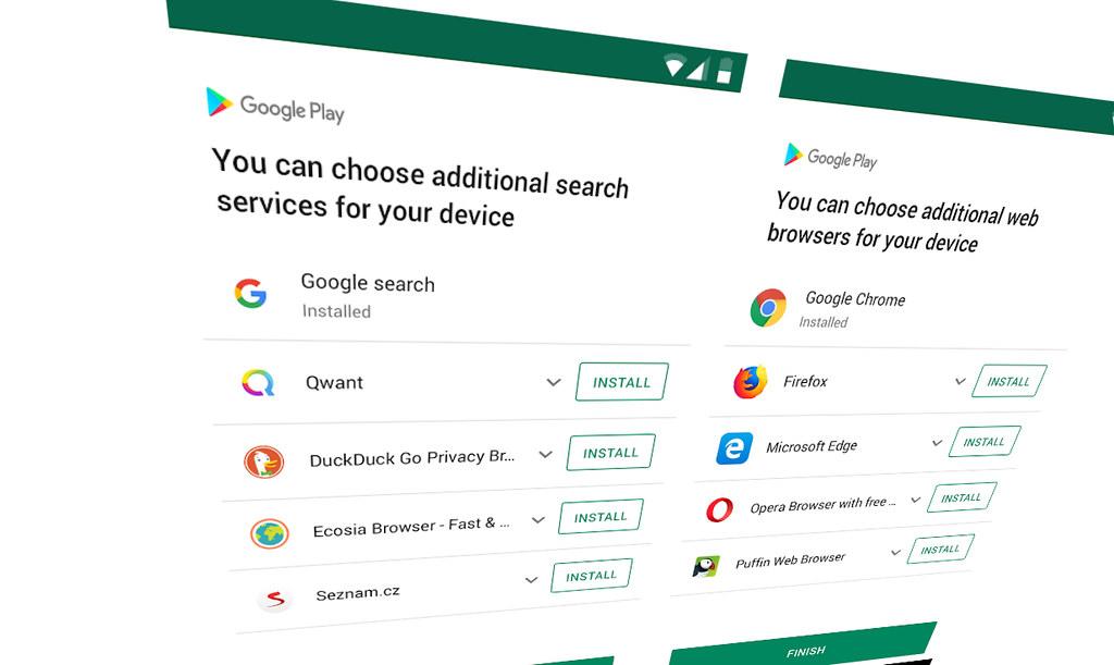 Google開放歐盟Android手機用戶自由選擇搜尋引擎 但對手付出的代價可能不低