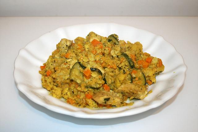 Cauliflower lentil fry - Leftovers II / Blumenkohl-Linsen-Pfanne - Resteverbrauch II