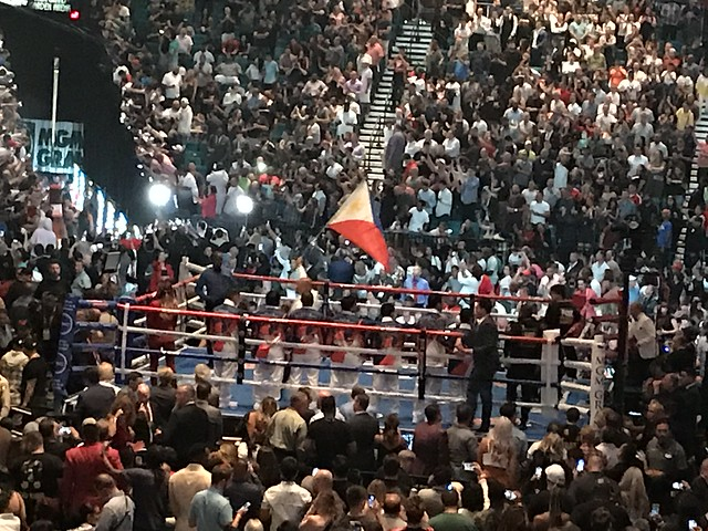 Philippine flag, Pacquiao vs. Thurman
