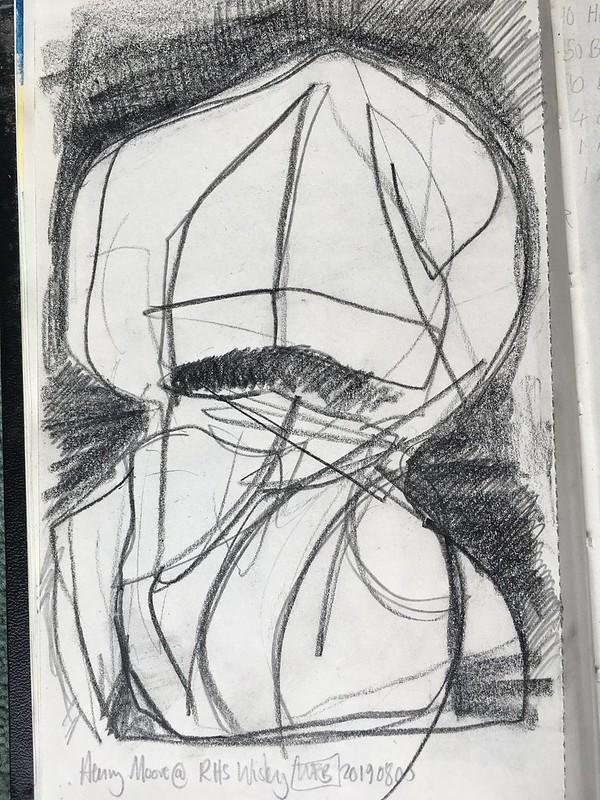 Sketch of Henry Moore Sculpture - 4