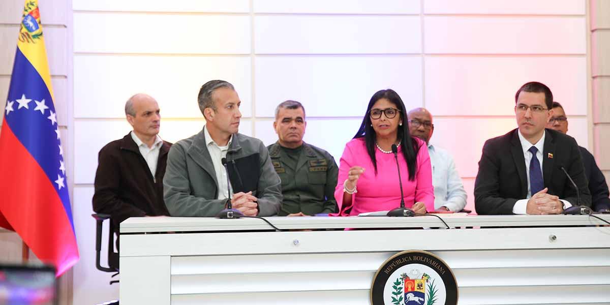 Vicepresidenta de la República Delcy Rodríguez ofrece declaraciones desde Vicepresidencia