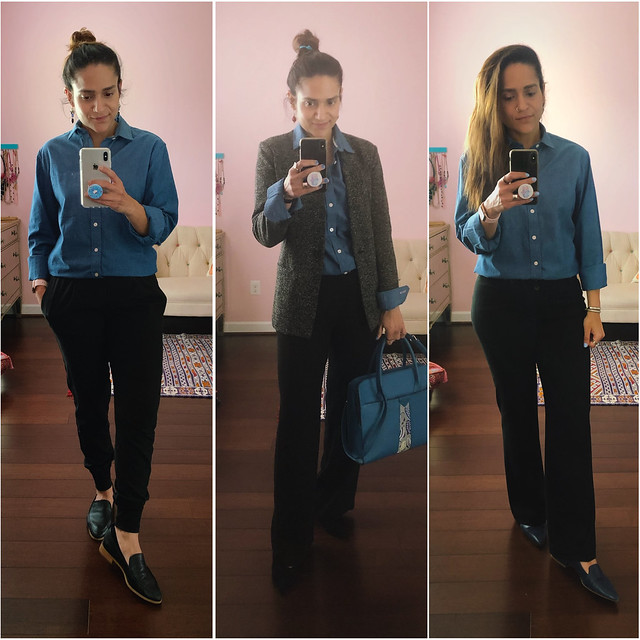 Three Ways Blue Buttondown